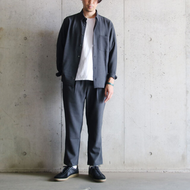 LAMOND,LA MOND,ラモンド,STRETCH OX SHIRT