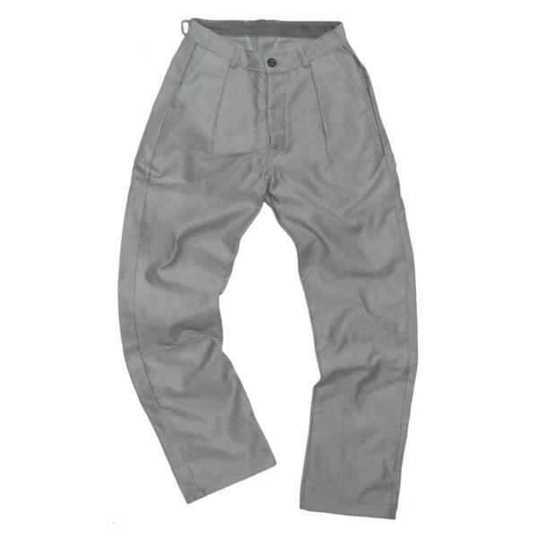 TUKI (ツキ) 0020 【TWO TACK PANTS】 CORD CLOTH コードクロス ツータックパンツ (CEMENT)