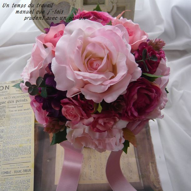 ウエディングブーケ 光触媒 高級造花 ロイヤルフレグランス 薔薇【bu20】【ROMANTIC】【ロマンティック】