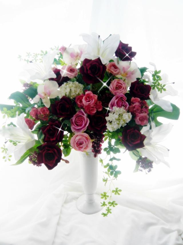 造花アレンジ 新築祝い開店祝い 高級造花キングサイズ【kia1】【ROMANTIC】【ロマンティック】
