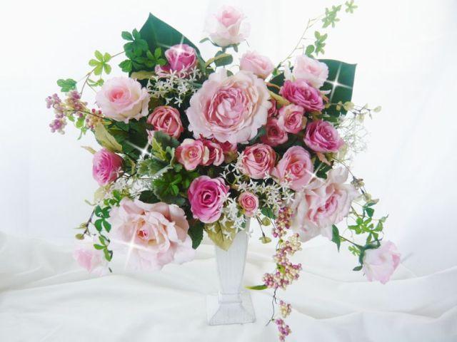 造花 お祝いプレゼント 開店新築祝い キングサイズ 光触媒【kia3】【ROMANTIC】【ロマンティック】