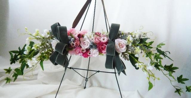 白樺ハンドル壁掛け 高級造花通販 アーティフィシャルフラワー シルクフラワー ROMANTIC【xr02】【ROMANTIC】【ロマンティック】