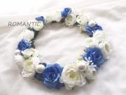 【花冠ホワイト&ブルー】