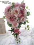 可愛いシャーベットカラーブーケ 高級造花 光触媒 ブーケBOX付き【bu21】【ROMANTIC】【ロマンティック】