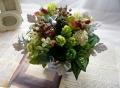 光触媒 観葉植物 ハーブ 実物 造花アレンジ 森アレンジ【interia2】【ROMANTIC】【ロマンティック】