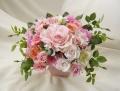 高級造花アレンジ 結婚プレゼント 造花通販 アーティフィシャルフラワー ピンクシルクフラワー【ar121】【ROMANTIC】【ロマンティック】