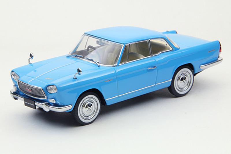 エブロ 1/43 プリンス スカイライン スポーツ クーペ 1962 ブルー 43705
