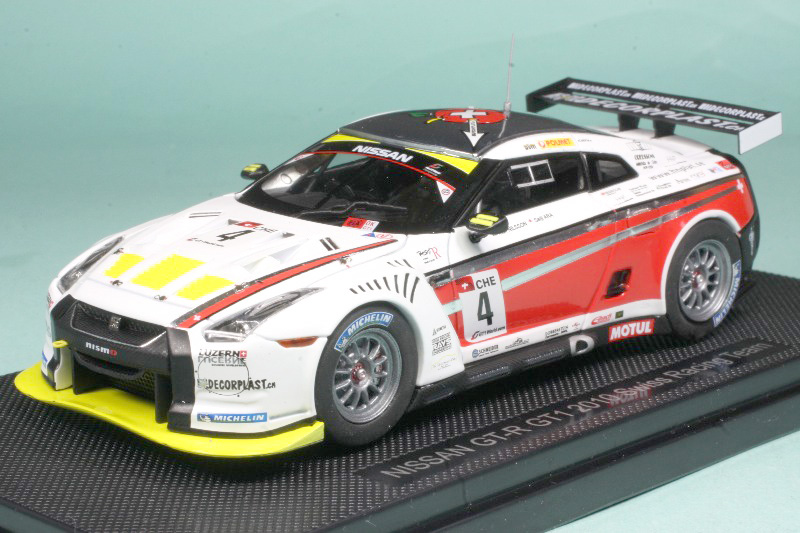 エブロ 1/43 ニッサン GT-R GT1 2010 スイスレーシングチーム No.4 44356