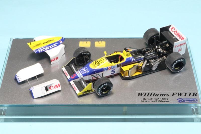[予約] ロムファクトリー 1/43 ウィリアムズ FW11B イギリスGP 1987 N.マンセル ウィナー フル開閉完成品 RFTMK438KI