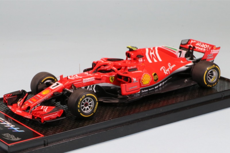 """BBR 1/43 フェラーリ SF71-H アメリカGP 2018 K.ライコネン ウィナー """"MW""""デカール加工品 BBRC235B限定199台 BBRC235BS"""