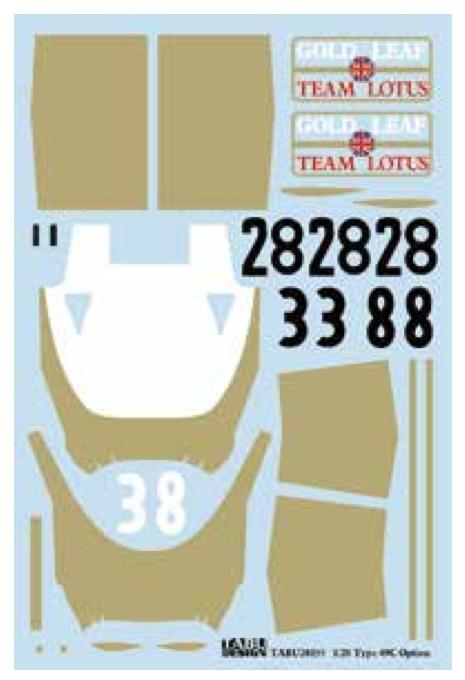 タブデザイン 1/20 ロータス 49C ゴールドリーフ TABU-20155