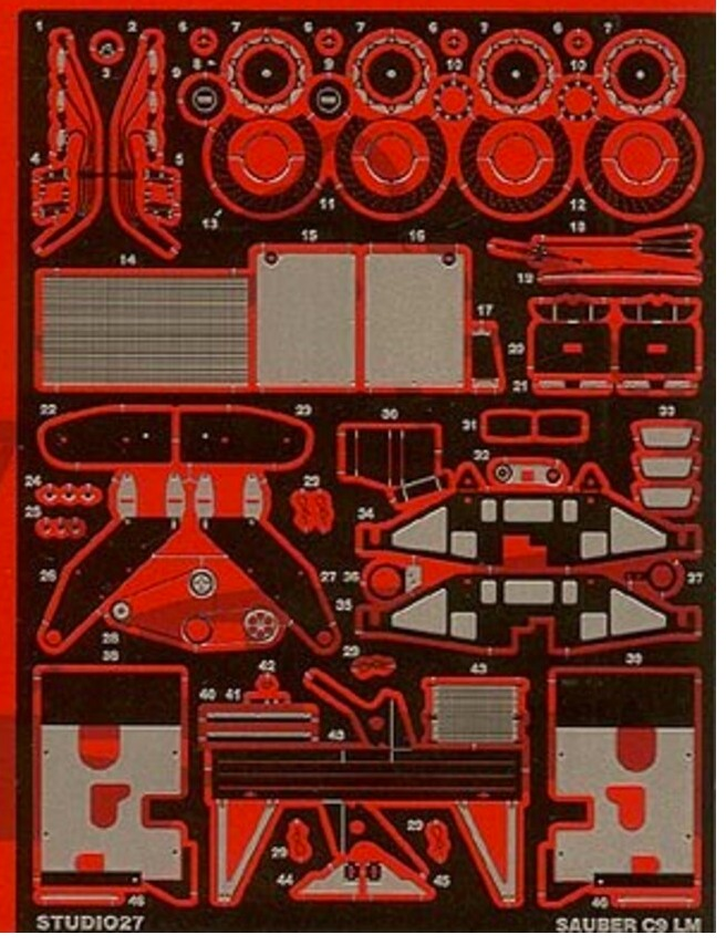 スタジオ27 1/24 ザウバー C9 グレードアップパーツ (タミヤ対応) FP2412R