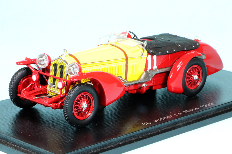 スパーク 1/43 アルファ ロメオ 8C ルマン 24h 1933 Winner No.11 43LM33