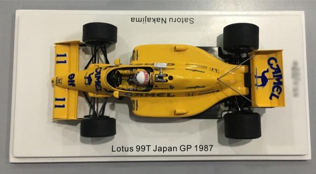 [予約] ロム特注スパーク 1/43 ロータス 99T 日本GP 1987 中嶋悟 限定420台 ROMU036 ROMU036