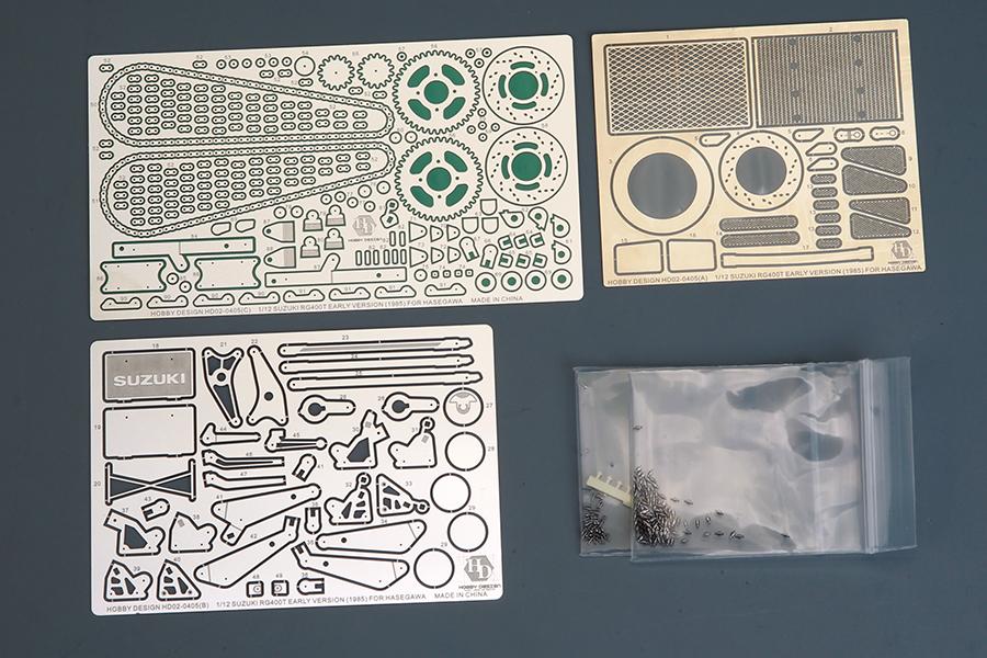 ホビーデザイン 1/12 スズキ RG400T 1985 前期型 ディティルアップパーツ (ハセガワ対応) HD02-0405