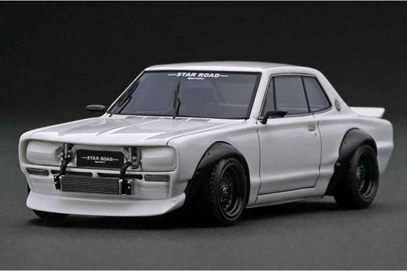 [取り寄せ] イグニッションモデル 1/43 ニッサン スカイライン 2000 GT-R KPGC10 スターロード ホワイト IG1912
