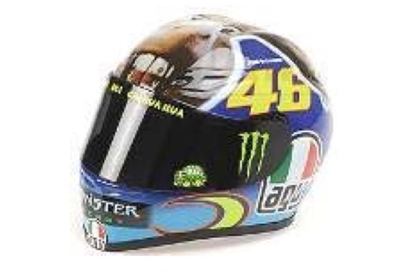 ミニチャンプス 1/10 AGV ヘルメット V.ロッシ モトGP ミサノ 2009 315090056 315090056