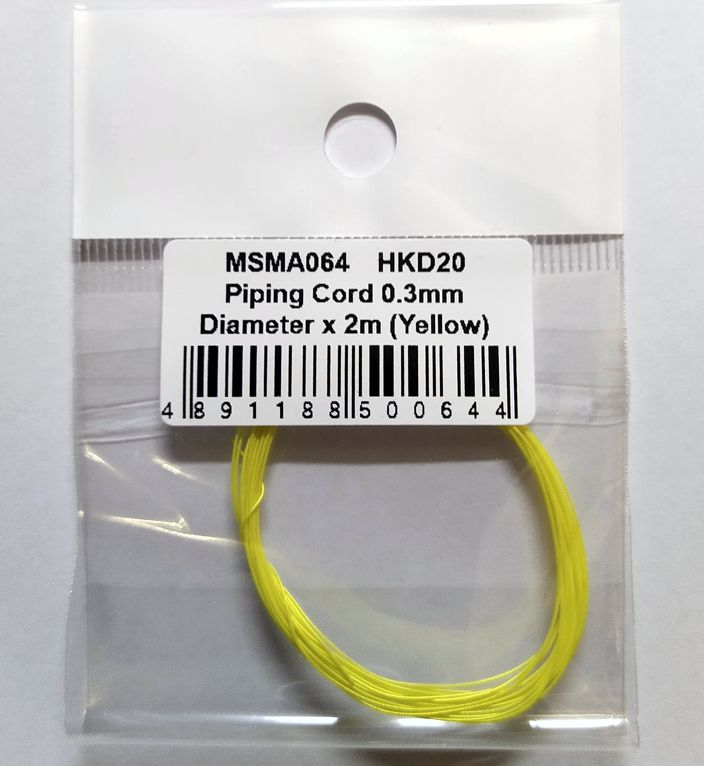 MSMクリエイション パイピングコード メタイエロー 0.3mm × 2m MSMA064