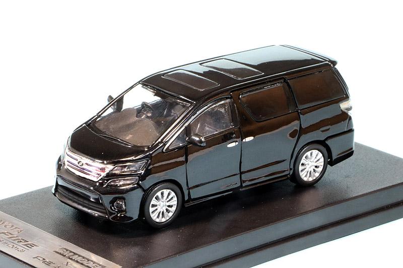 ピーコモデル 1/64 トヨタ ヴェルファイア 3.5Z ゴールデンアイズII 2013 ブラック PE63300