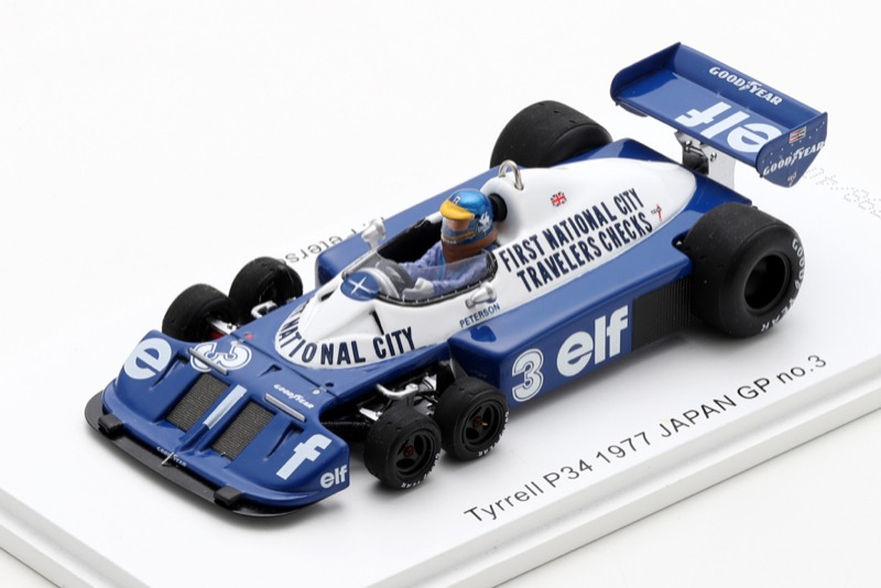 [予約] ロム特注スパーク 1/43 ティレル P34 日本GP 1977 R.ピーターソン 限定400台 ROMU037