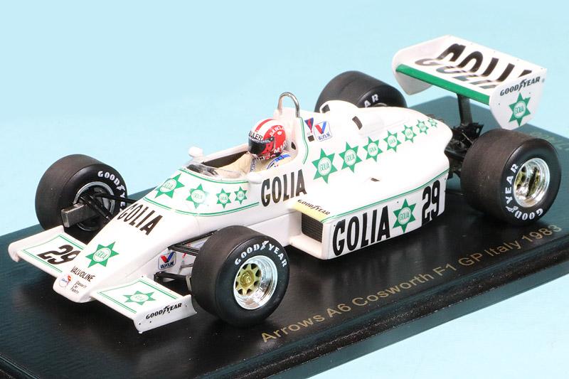 レースランド特注スパーク 1/43 アロウズ A6 イタリアGP 1983 M.ズラー RS1710