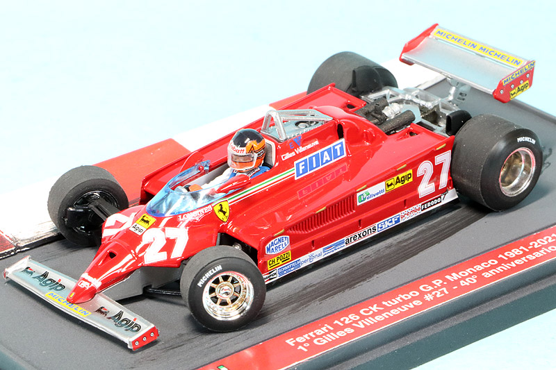 """ブルム 1/43 フェラーリ 126CK ターボ モナコGP 1981 Winner G.ビルヌーブ """"40th アニバーサリー 1981-2021"""" S21-01"""