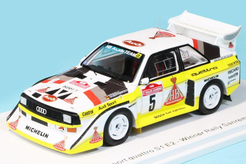 スパーク 1/43 アウディ スポーツ クアトロ S1 E2 サンレモラリー 1985 Winner No.5 S5192