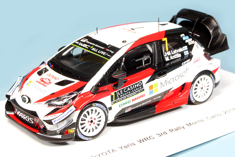 スパーク 1/43 トヨタ ヤリス WRC トヨタガズーレーシングWRT モンテカルロラリー 2018 3rd No.7 S5957