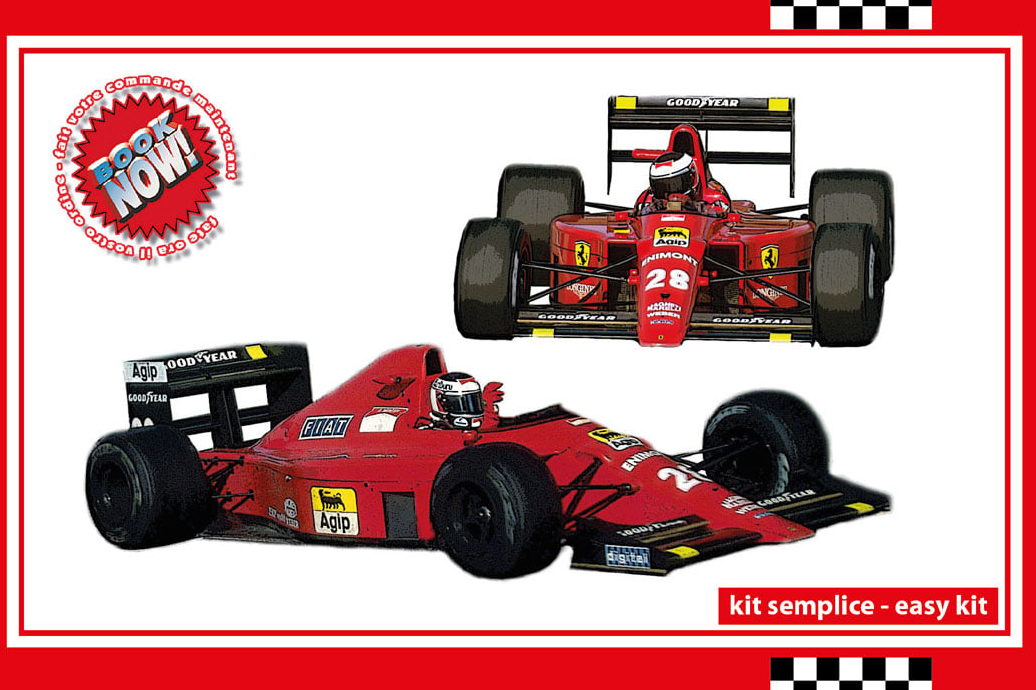 タメオ 1/43 メタルキット フェラーリ F189 640 ポルトガル GP 1989 G.ベルガー ウィナー / N.マンセル SLK130