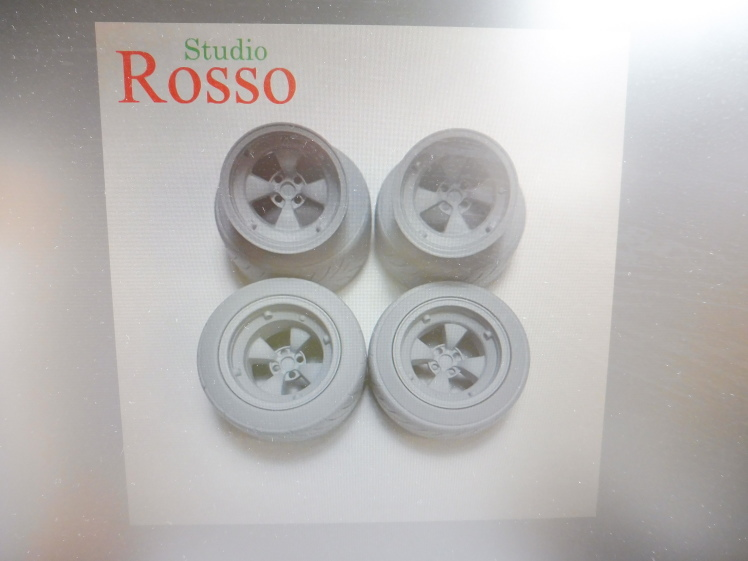 Studio Rosso 1/24 ワークスマグホイール(ゴッティタイプ) 15インチ (タイヤ付き) SRP-015