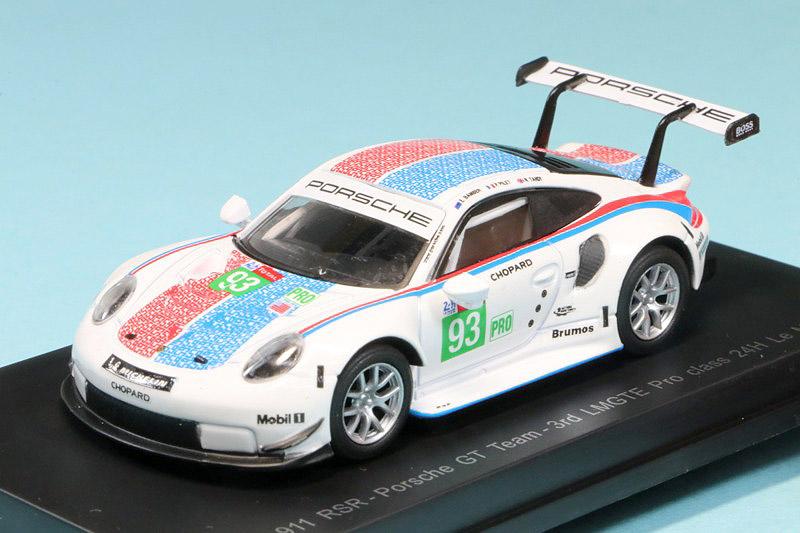 スパーク 1/64 ポルシェ 911 RSR ルマン 24h 2019 LMGTE Pro 3rd No.93 Y141