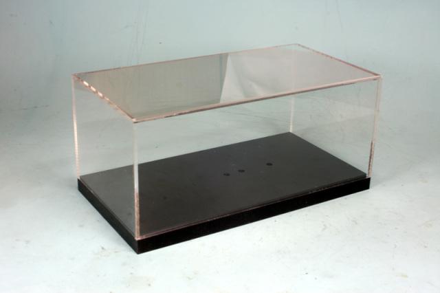 ロムオリジナル 1/12 アクリルケース ブラックベース 内寸:横幅443mm、奥ゆき243mm、高さ182mm RMDC1202
