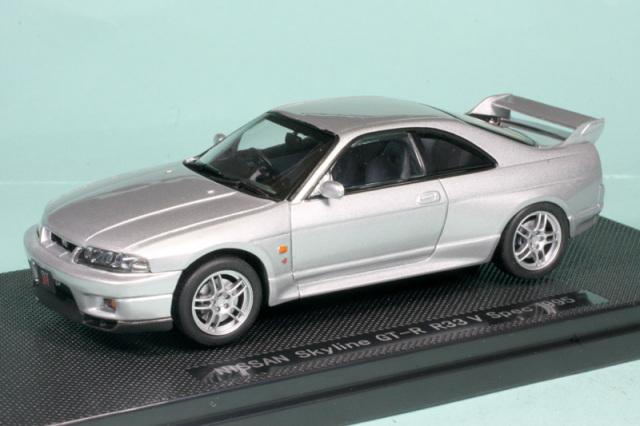エブロ 1/43 ニッサン スカイライン GT-R R33 Vスペック シルバー 43882