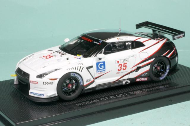 エブロ 1/43 ニッサン GT-R GT1 シルバーストン 2009 No.35 44305