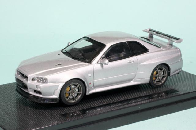 エブロ 1/43 ニッサン スカイライン GT-R R34 Vスペック2 シルバー 44150