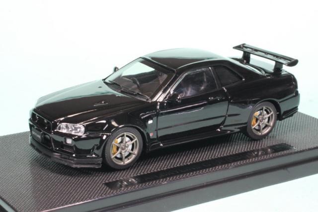 エブロ 1/43 ニッサン スカイライン GT-R R34 Vスペック2 ブラック 44151