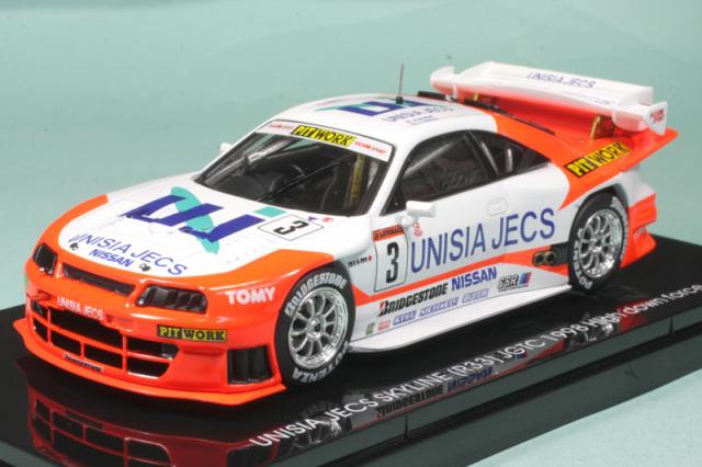 エブロ 1/43 ユニシア ジェックス スカイライン JGTC 1998 No.3 ハイダウンフォース仕様 44255