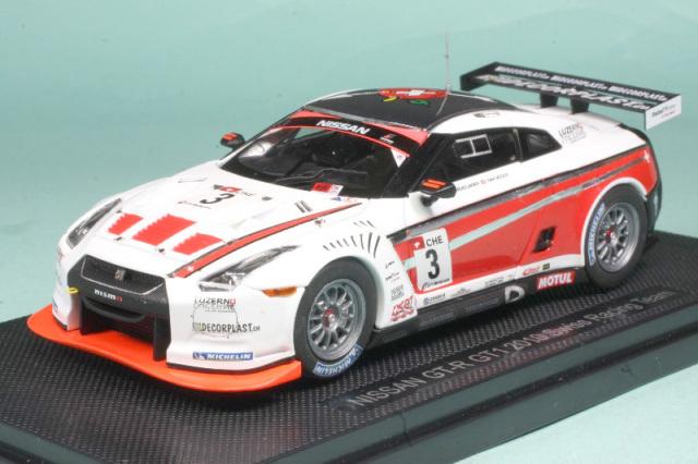 エブロ 1/43 ニッサン GT-R GT1 2010 スイスレーシングチーム No.3 44355