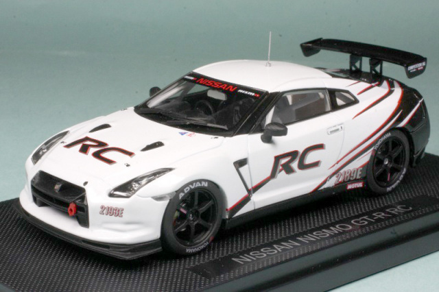 エブロ 1/43 ニッサン ニスモ GT-R RC ホワイト 44442
