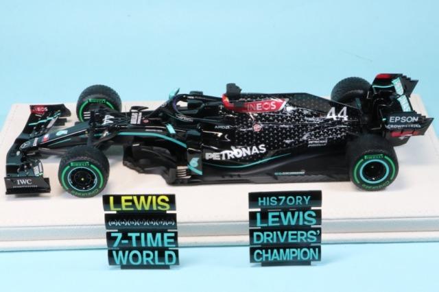 [受注製作見本] ロムファクトリー 1/20メルセデス AMG W11 トルコ GP 2020 インターミディエイトタイヤ仕様 L.ハミルトン ワールドチャンピオン  RFNSW11R14LH