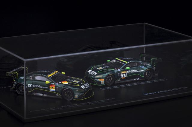 Dステーションレーシングチーム特注スパーク 1/43 アストン マーチン ヴァンテージ AMR GT3 スーパーGT 2019 GT300 No.7 & スーパー耐久 2019 STX No.777 2台セット 限定100台 DR43SGTSTX2019 ROMU000SET