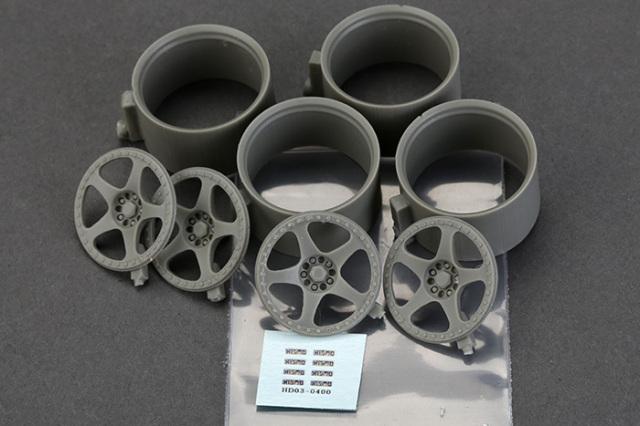 ホビーデザイン 1/24 18インチ ニスモ LMGT2 ホイールセット HD03-0400