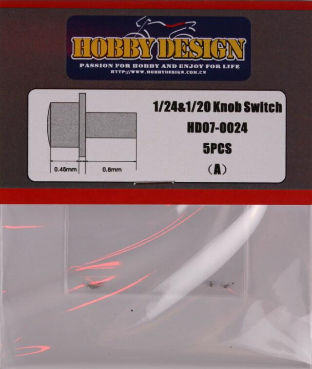 ホビーデザイン 1/24 1/20 ノックスイッチ Aタイプ 5個入り HD07-0024