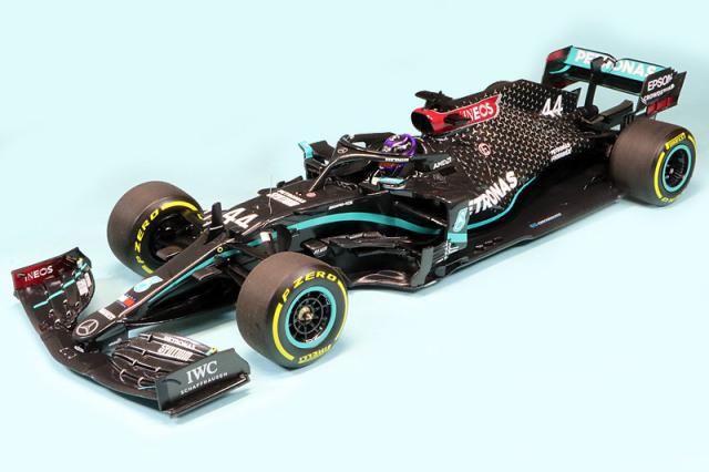 ミニチャンプス 1/18 メルセデス AMG ペトロナス F1チーム W11 EQパフォーマンス シュタイアーマルクGP 2020 Winner L.ハミルトン 110200244