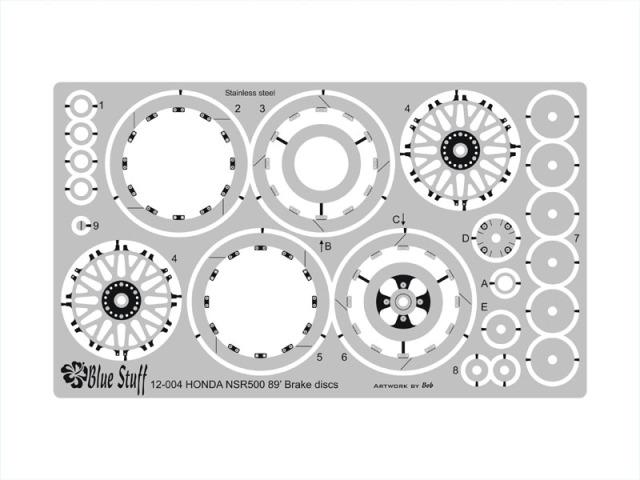 ブルースタッフ 1/12 ホンダ NSR 500 1989 ブレーキディスクエッチングパーツ 12-004