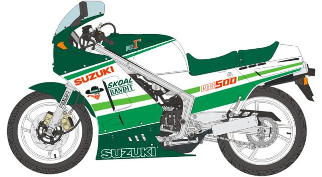 ブルースタッフ 1/12 デカール スズキ RG500 スコールバンディット 1986 デカール ハセガワ対応 12-026
