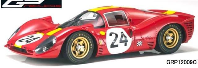 [予約] トップマルケス 1/12 フェラーリ 330 P4 ルマン 1967 No.24 GRP12009C