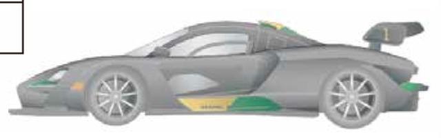 スタジオ27 1/24 マクラーレン セナ XP ドレスアップデカール ブラジル No.1 タミヤ対応 DC1237