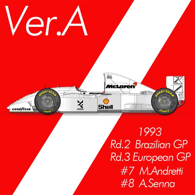 モデルファクトリーヒロ 1/43 フルディティールメタルキット マクラーレン MP4/8 1993 Ver.A ブラジルGP / ヨーロッパGP A.セナ M.アンドレッティ K779