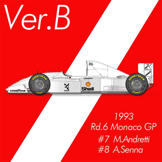 モデルファクトリーヒロ 1/43 フルディティールメタルキット マクラーレン MP4/8 1993 Ver.B モナコGP A.セナ M.アンドレッティ K780